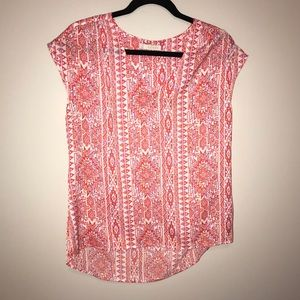 Hinge silky top with amazing color & pattern